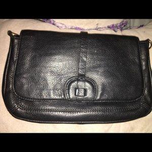 Black Leather w/ Crossbody Strap